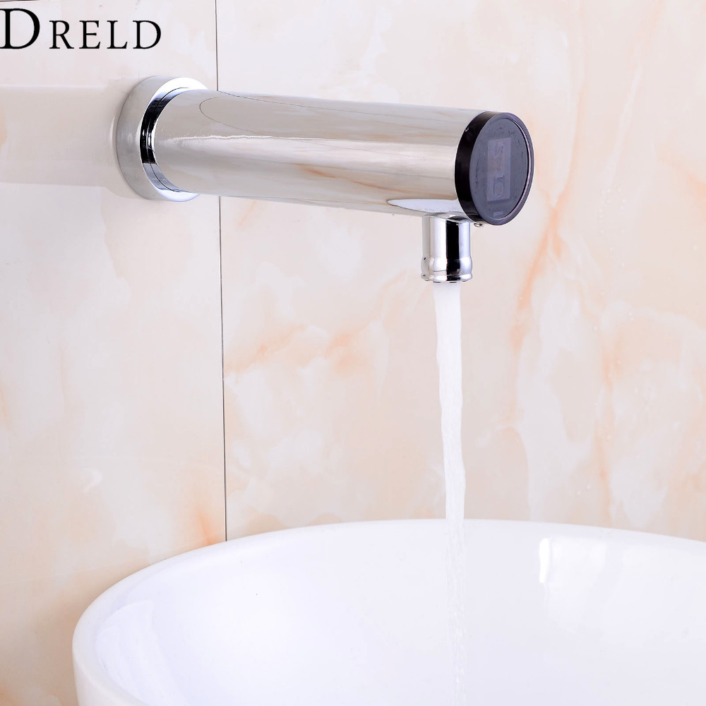 Automatic Sensor Faucet Bathroom Sense Faucet Hand Touchless Sensor Tap Hot &Cold Water Mixer Faucet Brass Chrome Wall Mounted china sanitary ware chrome wall mount thermostatic water tap water saver thermostatic shower faucet