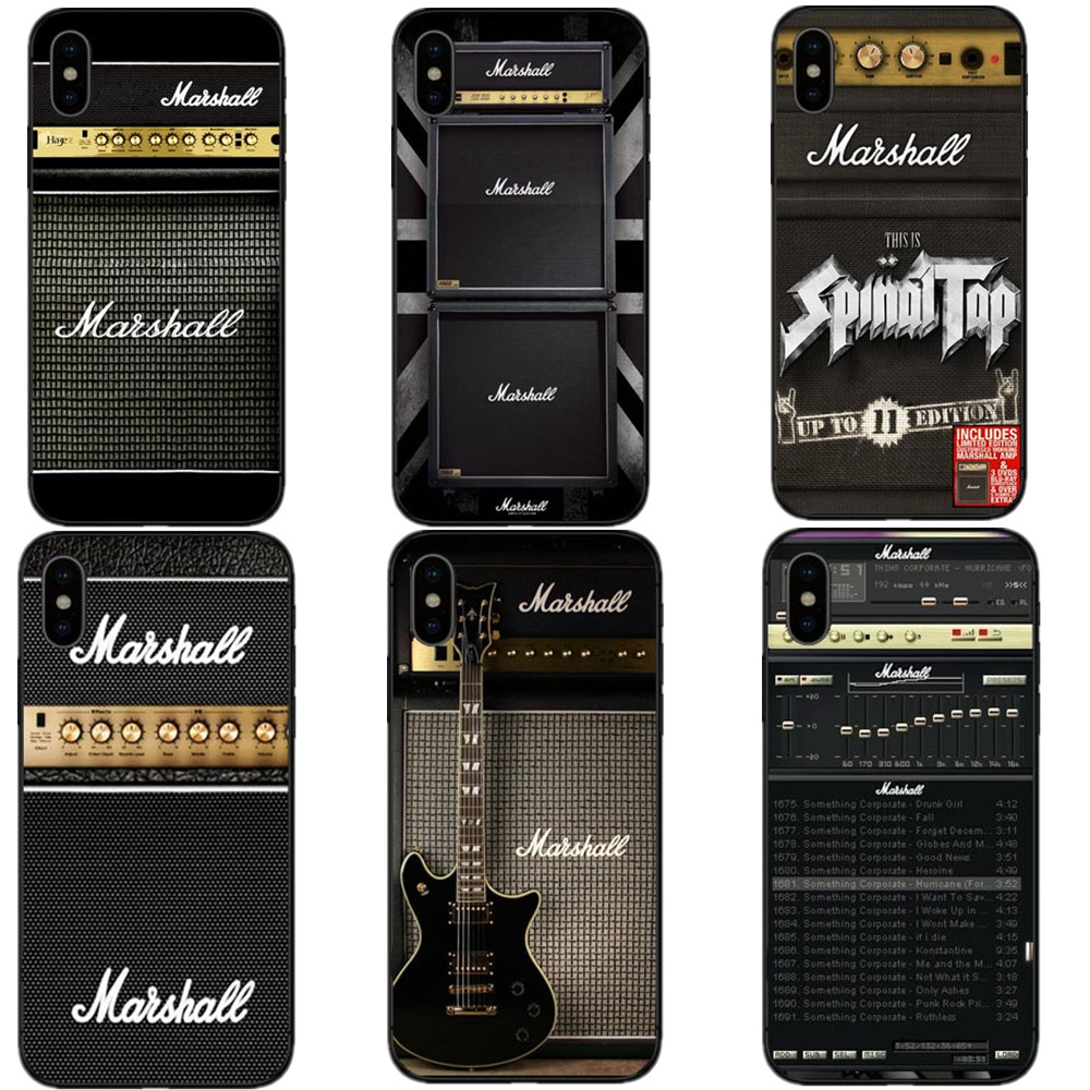guitar amp marshall black hard pc phone cases for iphone 5 5s se 6 6splus 7 8 plus music phone. Black Bedroom Furniture Sets. Home Design Ideas