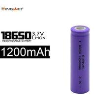 20pcs/lot kingwei For Flashlight 18650 3.7V Battery Li-Ion Bateria 1200mah With Protection Board For Led Flashlight
