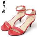 4 Colores Nuevo 2016 de Moda de Verano de Alta Calidad de Las Mujeres Sandalias de diamantes de Imitación zapatos de Tacón Alto Sexy Mujer Zapatos de Fiesta de Bodas D35