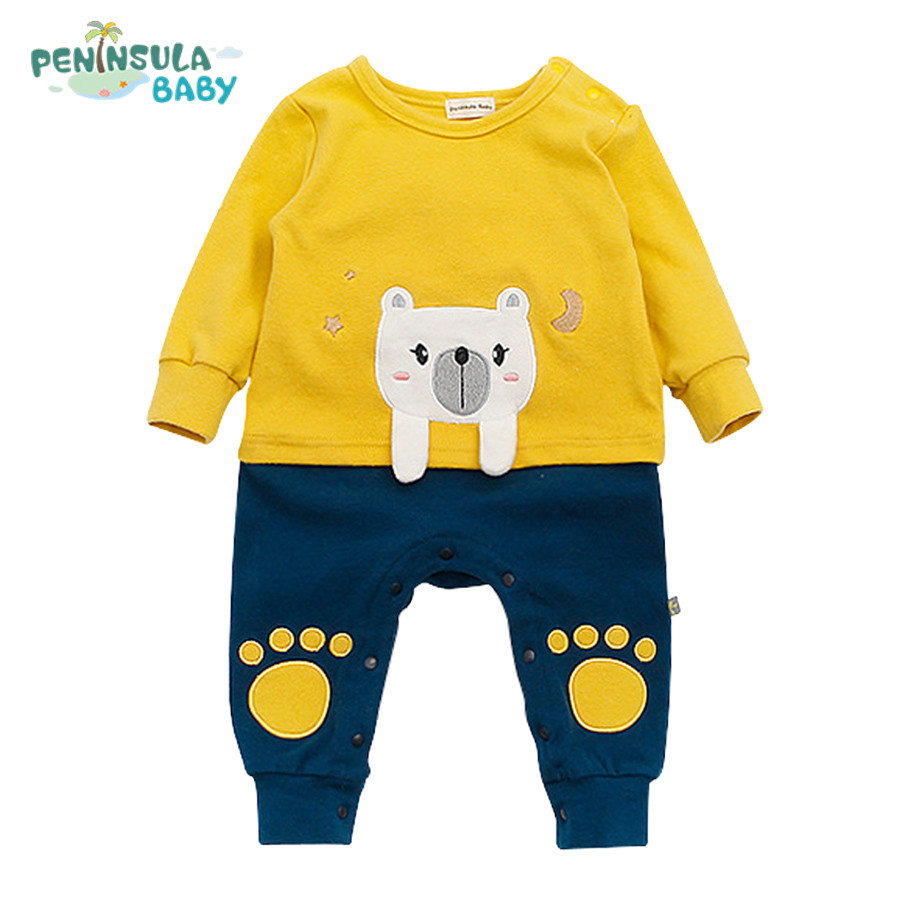 Brand Newborn Cute Cartoon Animals Costume Baby Girls Boys Clothes Long Sleeve Patchwork Soft Jumpsuit Clothing Spring Romper cotton baby rompers set newborn clothes baby clothing boys girls cartoon jumpsuits long sleeve overalls coveralls autumn winter