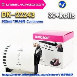 30 Rolls Generieke DK-22243 Label 102Mm * 30.48Meter Compatibel Voor Brother Label Printer QL-1060N Alle Komen Met Plastic houder
