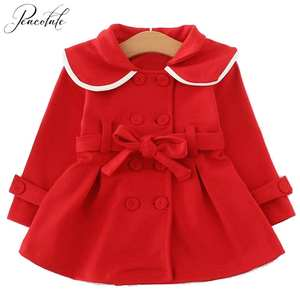 Coat Jacket Spring Baby-Girls Autumn Infant Red Cotton 6m-3years Windbreaker Long-Sleeve