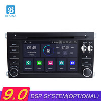 Besina Android 9.0 Car Radio For Porsche Cayenne 2003 2012 GPS Navigation DVD Multimedia Player WIFI Bluetooth Autoaudio 2 Din