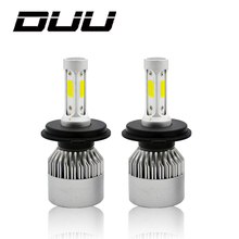 DUU H4 H7 H11 H1 H3 9005 9006 COB Car LED Headlight Bulbs Hi-Lo Beam 60W 8000LM 6500K Auto Headlamp Fog Light Bulb DC12v 24v