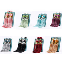Large Tie Backs Jade Ball Tassel Curtain Rope Tieback Single Pair HoldBacks New(China)