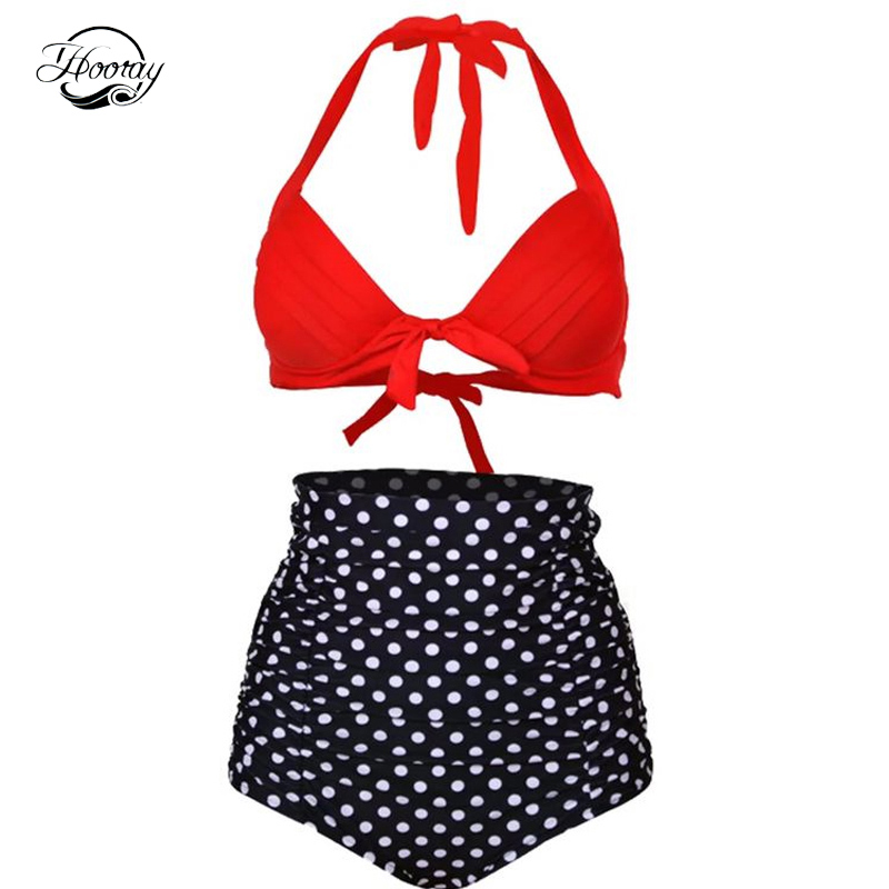 SexeMara Push up High Waist Swimsuit S-3XL big size Women Bathing Suit Padded Bikini set Beachwear Plus Size Swimwear simple women s plus size stripe bikini set