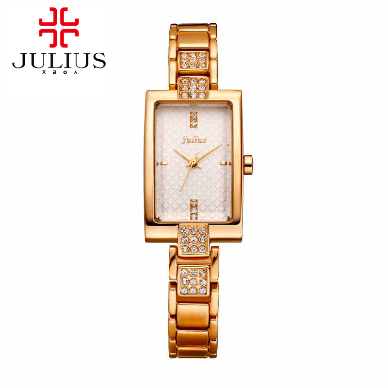 Luxury ladies steel bracelet wristwatch women dress rhinestone watches fashion casual quartz watch Julius 640 Hot selling clock