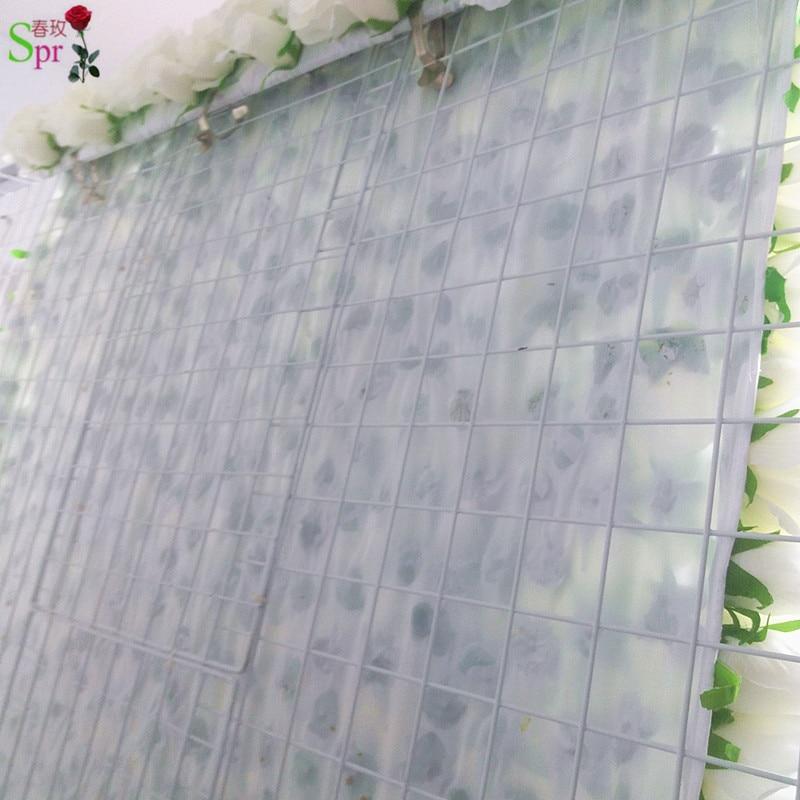 SPR retrousser tissu fleur mur 4ft * 8ft artificielle mariage occasion toile de fond arrangement fleurs décorations livraison gratuite - 4
