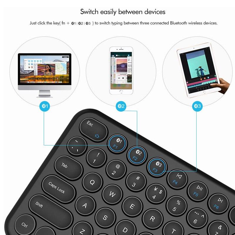 מחשבי כף יד   GPS B.O.W הקטן Bluetooth האלחוטי 78 מקלדת מקשה, Ultra-Slim USB Wired מקלדת מיני מולטימדיה עבור מחשב המחשב הנייד Mac (3)