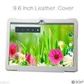 Оригинальный черный и белый цвет Кожаный чехол для 9.6 дюймов tablet от нашего магазина (Quad core 2 ГБ 16 ГБ Tablet pc)