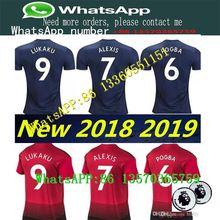 9b235c321 2018 2019 Manchester ALEXIS POGBA LUKAKU RASHFORD Soccer T-shirt United  MATA 18 19 ANDER