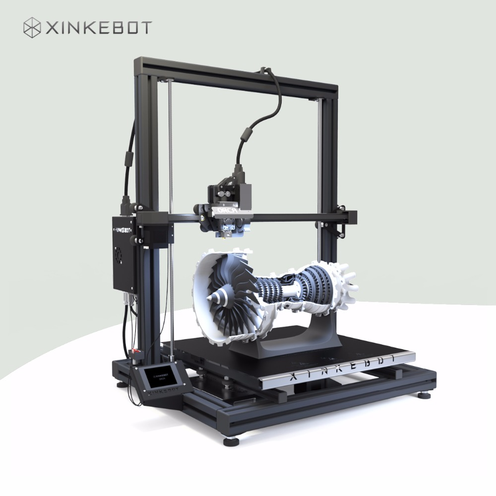 Large 3D Printer Dual Extruder Auto Leveling Xinkebot Orca2 Cygnus Industrial Grade 3D Printer 15.7x15.7x19.7in xinkebot 3d printer orca2 cygnus dual extruder high resolution big impressora 3d with free filament