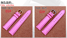 Laopijiang Ostrich Leather Watchband female high end fashion watches accessories 12 14 16 18 20 22mm