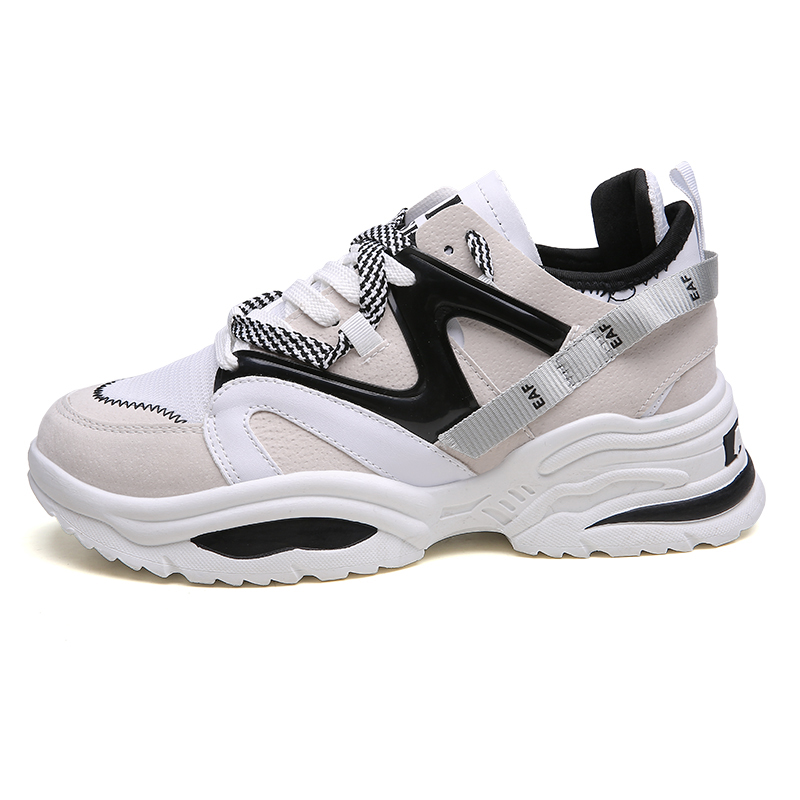 New 2018 Women Sneakers White Fashion Retro Platform Running Shoes Lady Autumn Winter Footwear Breathable Zapatos De Mujer