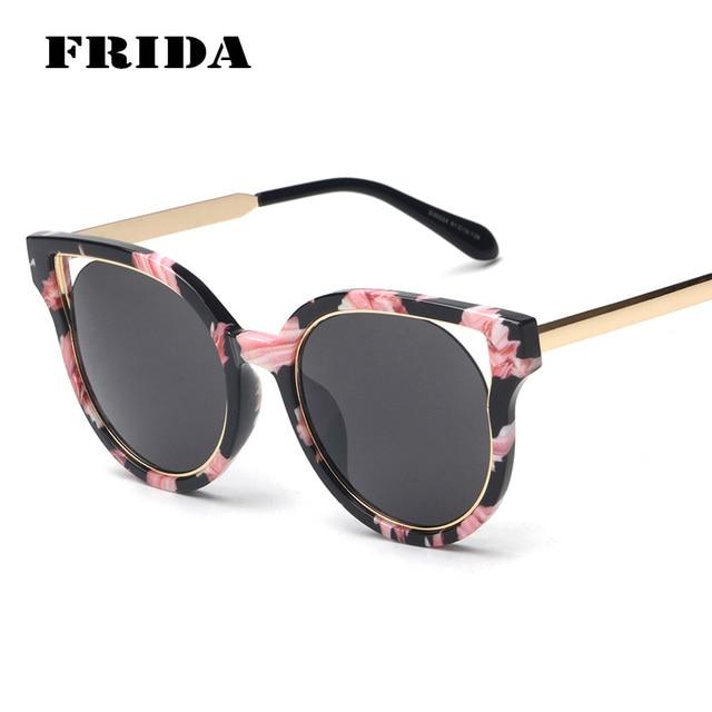 088253908b59f Mulheres de Grandes Dimensões do vintage óculos de Sol Olho De Gato Lente  Revestimento UV400 Espelho