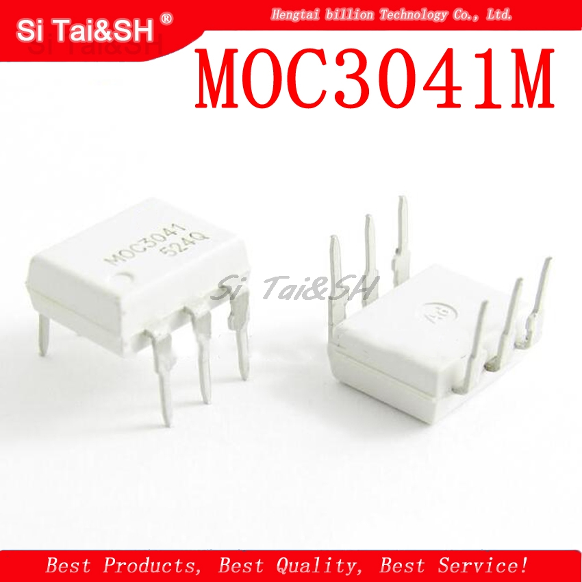 5pcs/lot MOC3041M MOC3041 3041 OPTOCOUPLER TRIAC 400V DIP6 Integrated Circuits  - AliExpress