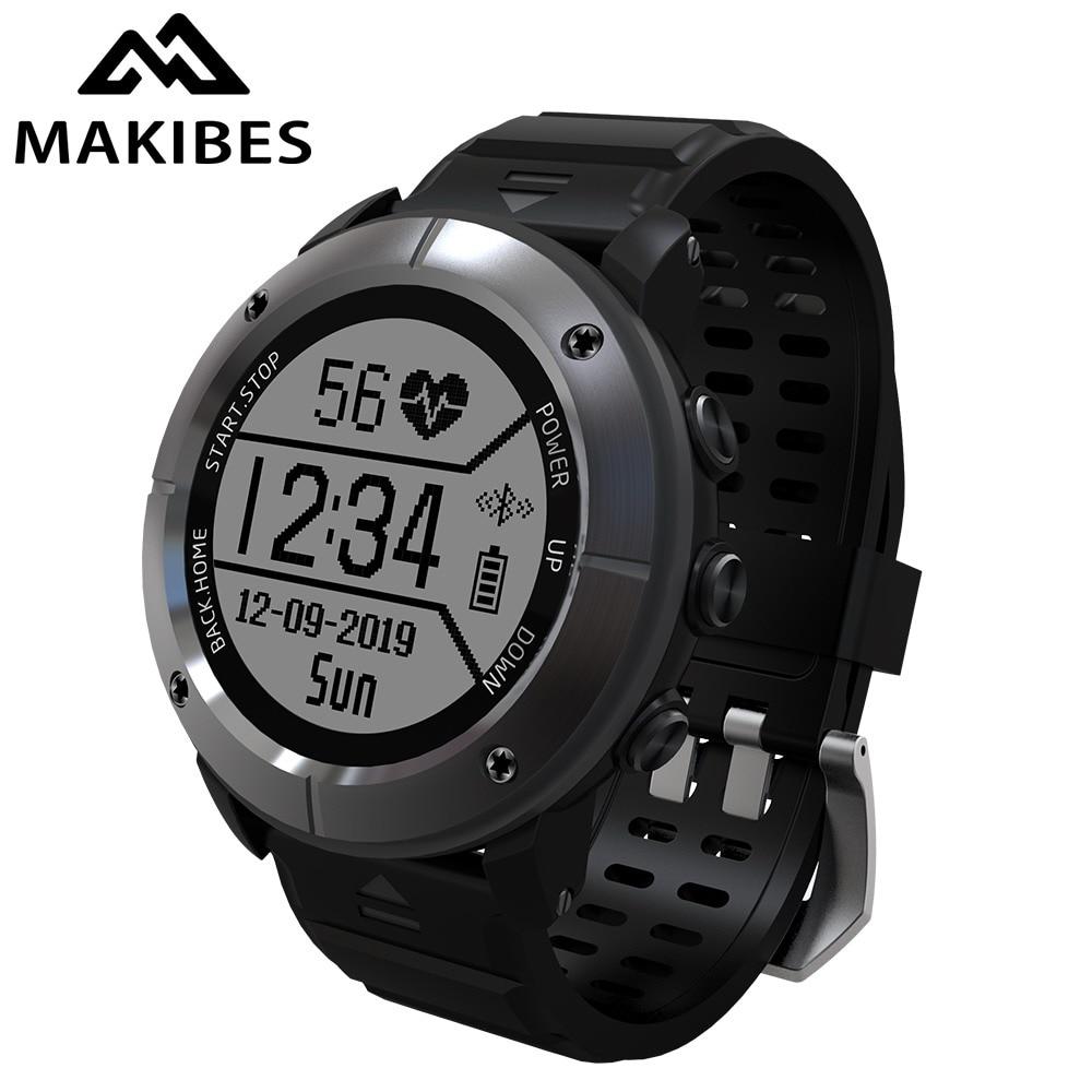 Makibes Smart Watch Multisport GPS Watch Men Wristwatch Heart Rate Monitor Waterproof Smart Watch Activity Tracker Call Remind makibes ex18 smart watch silver