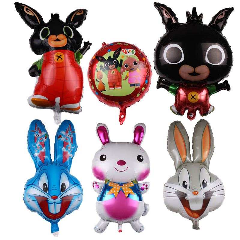 Easter Rabbit Foil balloons Cute Rabbits Birthday Party Decor Kids Toy Balls Lo Balloons