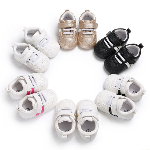 Pudcoco New Casual Newborn Baby Boy Girl Soft Sole Crib Shoes Anti-slip Sneakers Prewalker 1Pair US