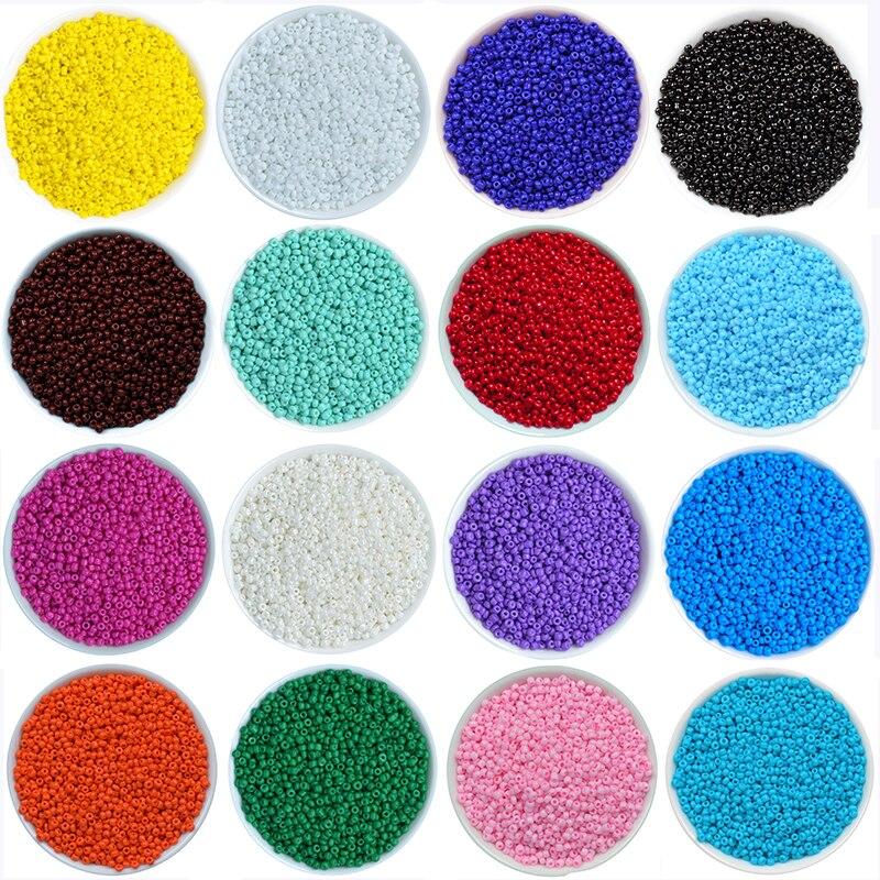 1000 Teile/los 45 Farben 2mm Kristall Glas Tschechische Rocailles Lose Miyuki Spacer Hama Perlen Für Diy Schmuck Machen Perles Berloque