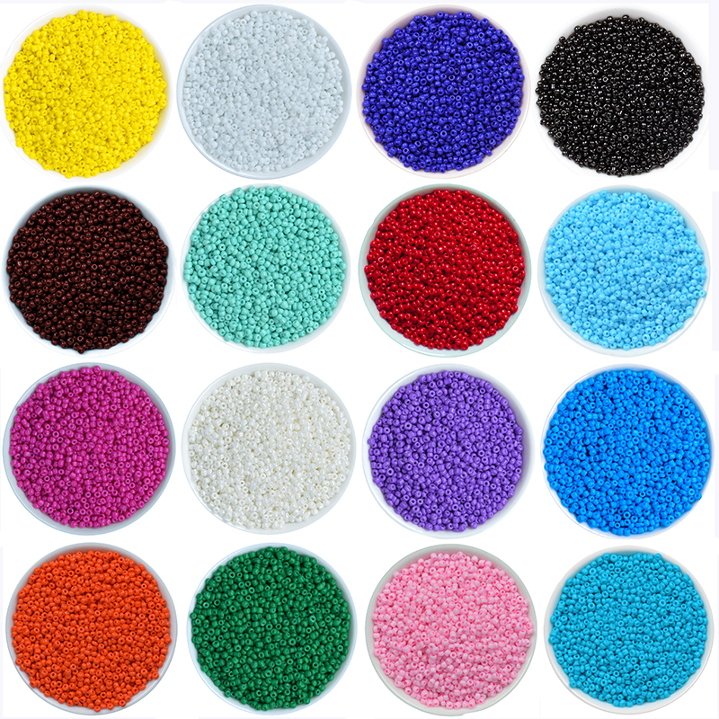 1000Pcs/lot 45 Colors 2mm Crystal Glass Czech Seed Beads Loose Miyuki Spacer Hama Beads For DIY Jewelry Making Perles Berloque(China)
