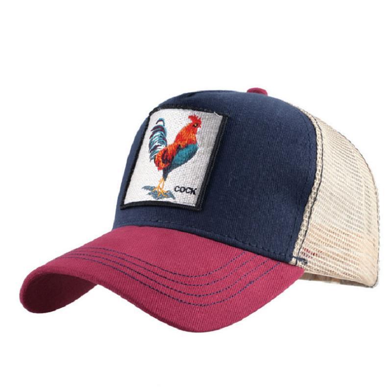 100% QualitäT Heißer Verkauf Baseball Kappe Für Frauen Sommer Mesh Cap Männer Stickerei Tier Bones Hip Hop Hut Casual Baumwolle Hut Dropshiopping