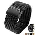 Milanese strap quick release 22mm lg g watch r w100 w110 w150 urbano pulseira relógio banda de aço inoxidável