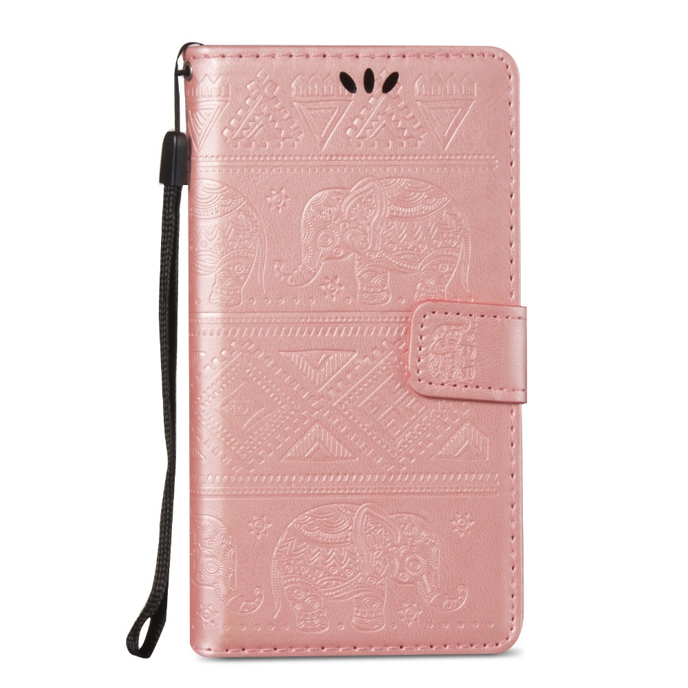 For Samsung Galaxy On5 SM-G550 Wallet <font><b>Case</b></font> Cover Luxury Embossed <font><b>Elephant</b></font> Flip PU Leather Stand <font><b>Phone</b></font> <font><b>Case</b></font> Cover