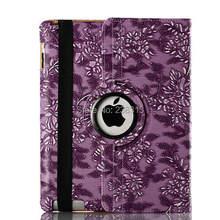 Умный чехол с подставкой и вращением на 360 градусов виноград, кожаный чехол-книжка, чехол для iPad 2, 3, 4, iPad 5 Air, iPad Mini 1, 2, 3, чехол