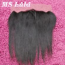 New arrival 7A Peruvian virgin hair Straight Ear to Ear Lace frontal closure 4×13 size Free Shipping Ms Lula hair