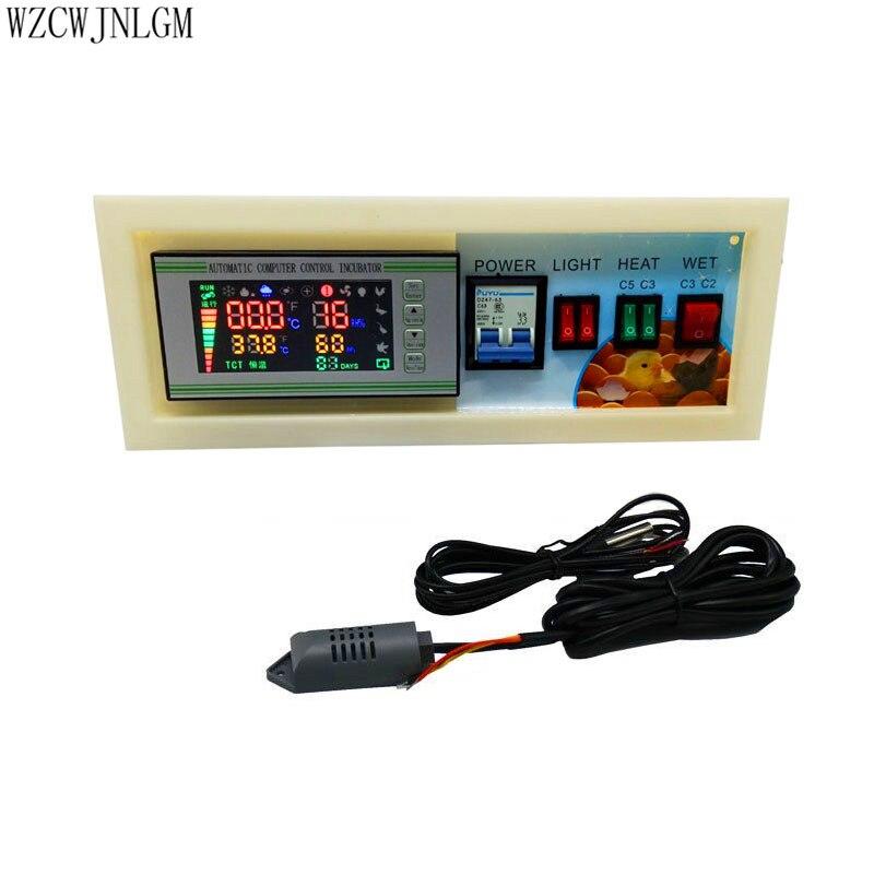Incubator controller XM 18SE Incubator Controller Full Automatic Control With Temperature Humidity Sensor Probe 1set