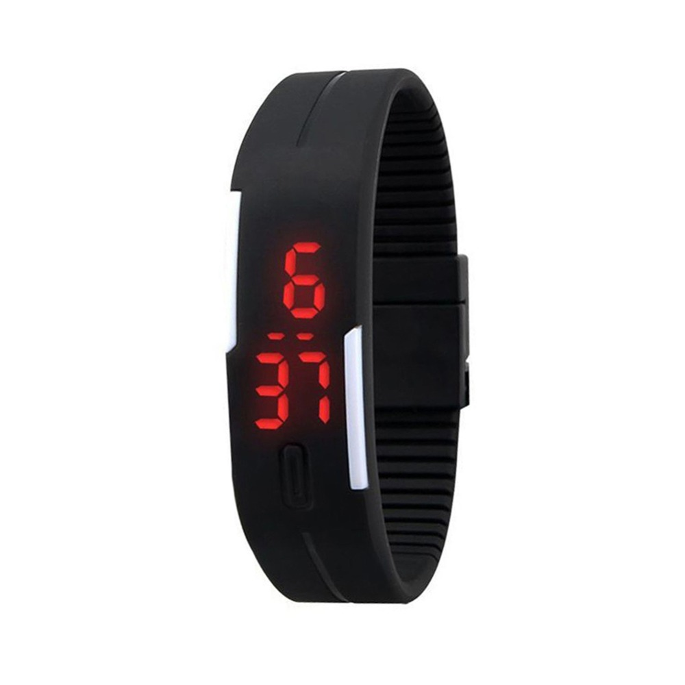 Honey Fashion Mens Women Kids Students Silicone Rubber Soft Sport Led Digital Watches Touch Screen Boys Girls Bracelet Wrist Watches Digital Watches