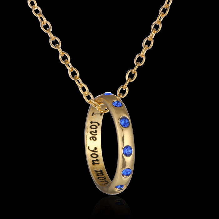 Romantic new letter pendant necklace engraved i love you more full romantic new letter pendant necklace engraved i love you more full sapphires circle necklace wedding jewelry for women in pendant necklaces from jewelry mozeypictures Gallery
