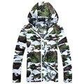 2016 Nova camuflagem ocasional primavera jaqueta mulheres casacos com capuz blusão amantes transparentes casaco S-3XL KM1433