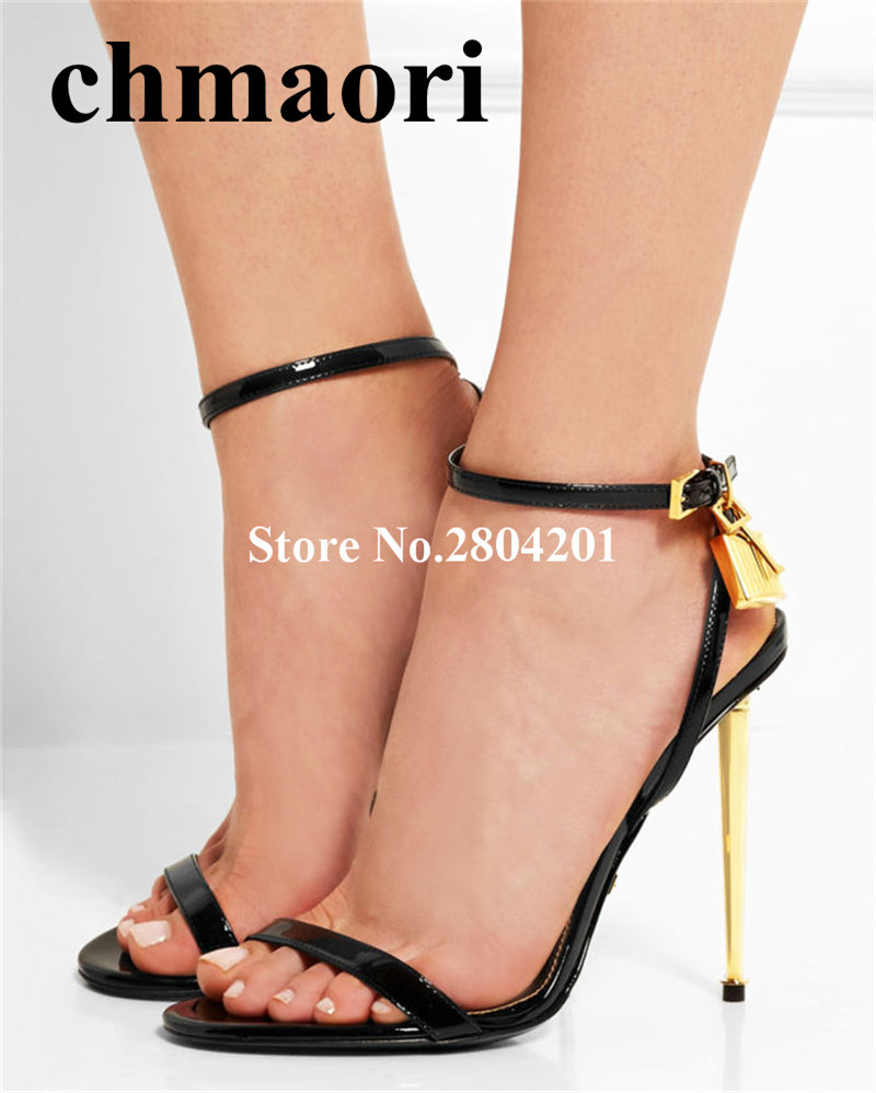 summer Luxury  Buckle Strap Fashion Ankle Strap Super High shoes Thin heels  solid Hot Selling sexy open toe woman Sandals summer newest woman sandal thin heels high heel shoes 2017 solid red leather ankle buckle strap sandals rivets studded shoes
