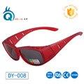 Solar Escudo Sobre Óculos Polarizados Caber sobre A Maioria Dos óculos de miopia UV Surf coiorful quadro esay usado no esporte ao ar livre óculos de sol