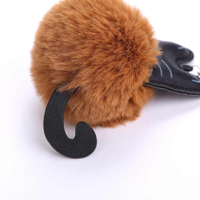 Mới Mèo Móc Khóa Pompon Móc Khóa Lông Tơ Nhân Tạo Lông Thỏ Bóng Vòng Chìa Khóa Nữ Túi Xe Charm Mặt Dây Chuyền Pom Pom giá Đỡ