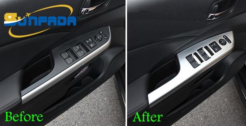 Sunfada 4 Stks Set Abs Chrome Koolstofvezel Auto Onderdelen