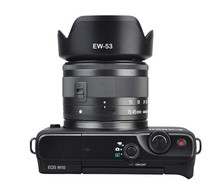 EW 53 49 ミリメートル EW53 レンズフード可逆カメラレンテアクセサリーキヤノン Eos M10 EF M 15 45 ミリメートル f /3.5 6.3 は、 STM レンズ