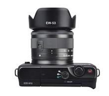 EW 53 49mm EW53 osłona obiektywu odwracalna kamera Lente akcesoria do Canon EOS M10 EF M 15 45mm f/3.5 6.3 IS STM obiektyw