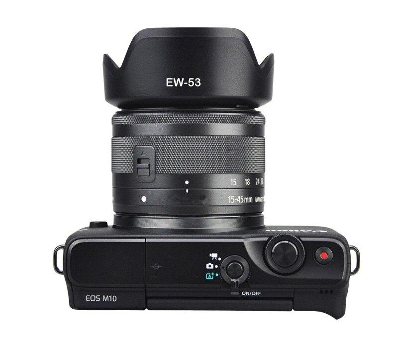 EW-53 49mm EW53 pare-soleil réversible caméra Lente accessoires pour Canon EOS M10 EF-M 15-45mm f/3.5-6.3 IS STM objectif