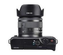 EW 53 parasol Reversible para cámara lentes de 49mm EW53, accesorios de lentes para Canon EOS M10 EF M 15 45mm f/3,5 6,3 IS STM
