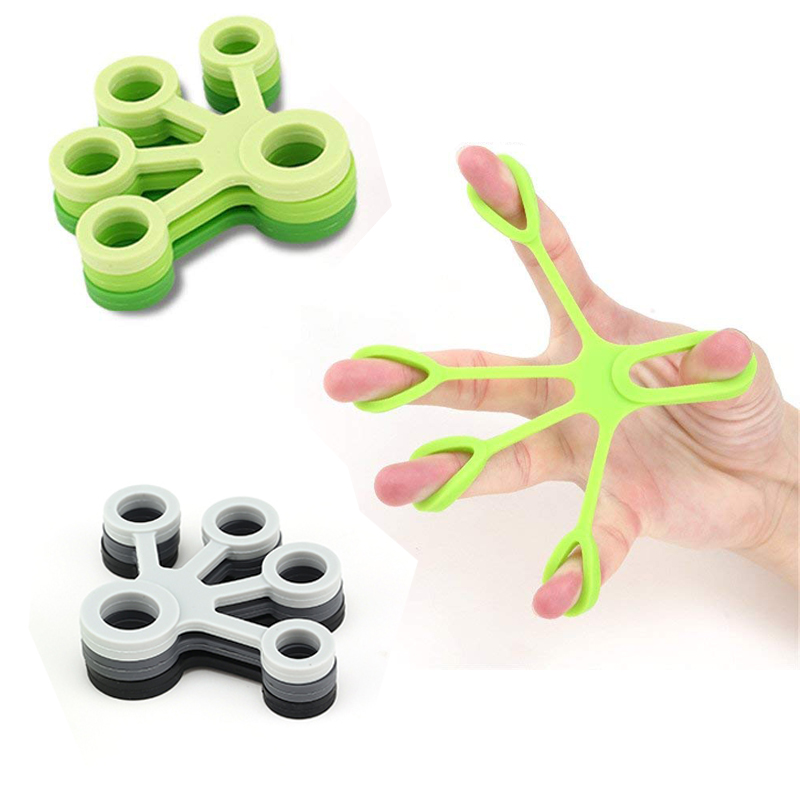 Finger Strengthener Trainning Exerciser Hand Grip Silicone Ring Gripper Finger Fitness Resistance Bands Hands Extension Exercise