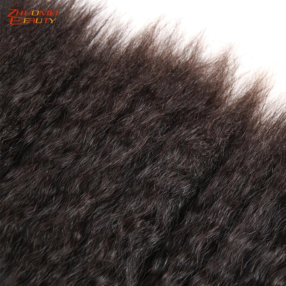 Kinky reta feixes de tecer cabelo humano remy peruano feixes de cabelo relação profissional 100% extensões de cabelo humano 1/3/4 pces 8 28 - 5