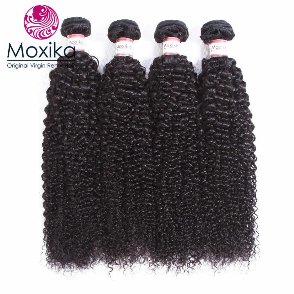Moxika волосы перуанские вьющиеся волосы человеческие волосы ткачество двойной уток 4 пучки волосы Remy парик с завивкам 4 шт./партия 8-28 дюймов
