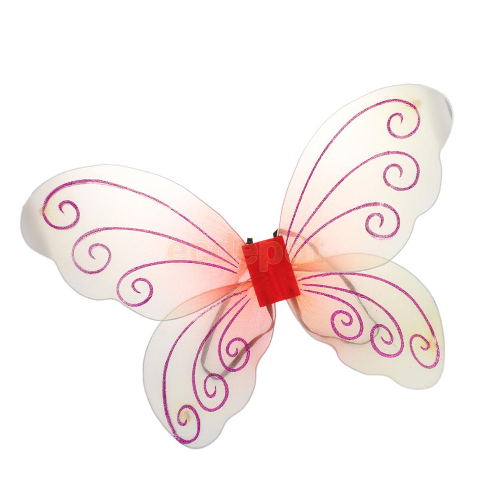 Small Childs Glitter Fairy Wings Fancy Dress Toddlers Kids Wings Angel Wings