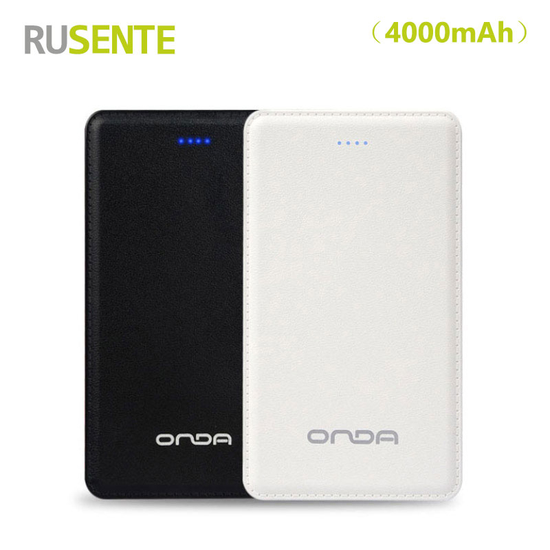 High quality Ultra-thin Portable Power Bank 4000mAh External Battery charge Carrying Micro Charger Cable for Android Micro Phone