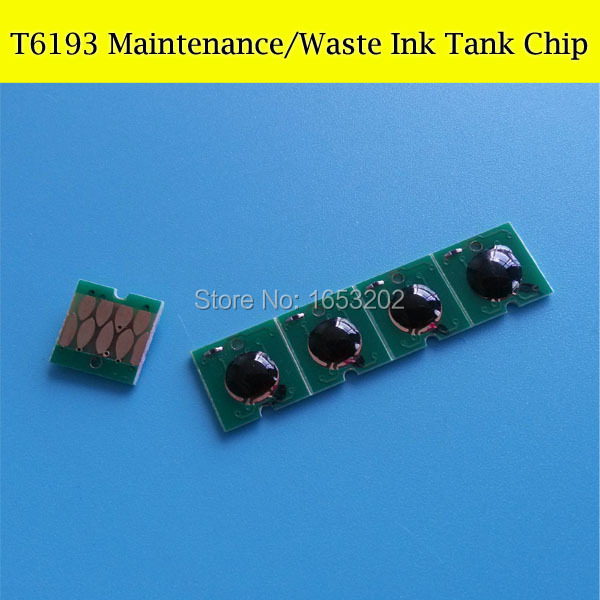 10 PCS T6193 6193 Maintenance Waste Ink Tank Chips For Epson F6070 F7070 T7000 T3000 T5000