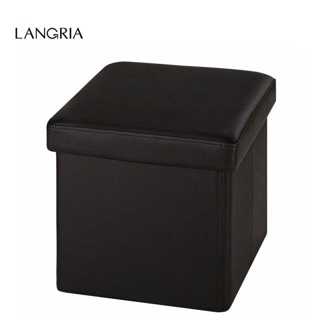 LANGRIA Moderne Neue Kunstleder Falten Lagerung Hocker Cube Fußstütze  Kinder Sitzhocker UNS Otto Falten Polster Schönheit
